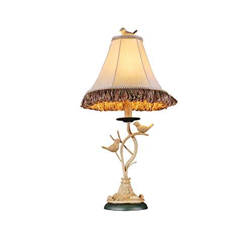 zlw-shop Lámpara de Mesa Sala de Personalidad Boda Americana iluminación Simple Dormitorio lámpara de cabecera Inicio Creative Villa Hotel lámpara de Mesa Lámpara Mesilla de Noche