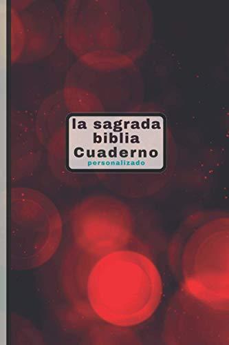 la sagrada biblia Cuaderno personalizado: Gracias mi Dios por este año. Navidad. pequeño planificador semanal y mensual de estudios bíblicos de 6x9