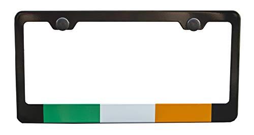 International Tie Flag-Themed License Plate Frame, High Grade 304 Stainless Steel (Ireland)
