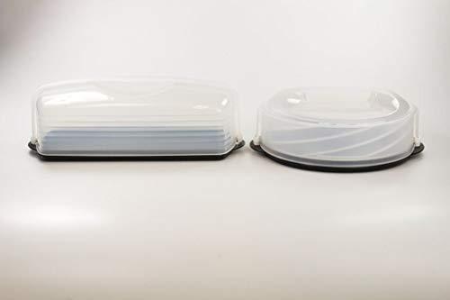 TUPPERWARE Exclusiv Königskuchenbehälter schwarz+Tortentwist Kuchenform Behälter