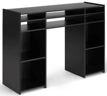 Zomo Deck Stand VEGAS (black) consolle cabinet per dj - ospita 2 giradischi, cd, player, vinili