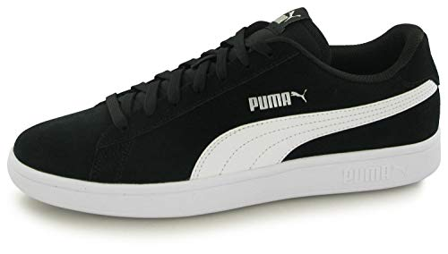 PUMA SMASH V2, Sneakers Unisex-Adulto, Nero BLACK WHITE SILVER, 45 EU