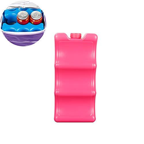 Sungpunet 1 Paquete de Hielo para Almacenamiento de Leche Materna en Forma de Contorno Reutilizable para Almuerzo, Bolsa de refrigerador de Leche Materna (Rojo)