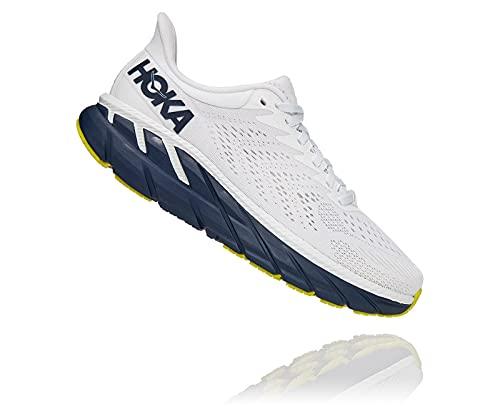 Hoka 1110509-BDBBI: Women's Clifton 7 Blanc De Blanc/Black Iris Running Shoe (8.5 B(M) US Women)