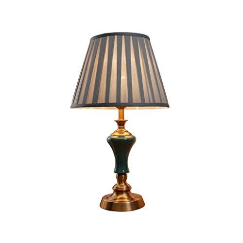Lámpara de mesita de noche Lámpara de mesa de cerámica del dormitorio de la lámpara de cabecera Estudio de lectura lámpara de la sala de estar dormitorio de la lámpara lámpara de escritorio lámparas d