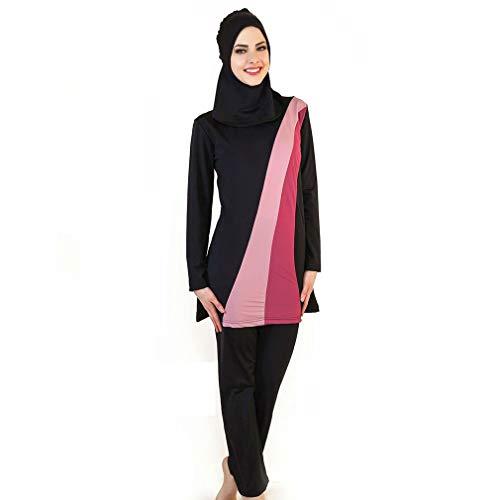 HaiDean Lin123 Traje De Baño Musulmán para Mujer Traje De Baño Islámico Traje De Baño Hijab Traje De Baño Completo Traje De Baño Musulmán Traje De Baño De Moda De Playa Burkini