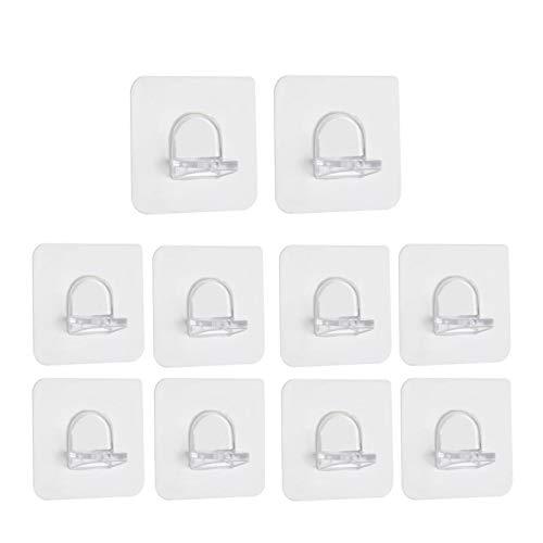 Aosong 10 ganchos autoadhesivos para estanterías, soportes de pared divisorios, soportes de pared divisorios, para accesorios de estantería, armarios de vino