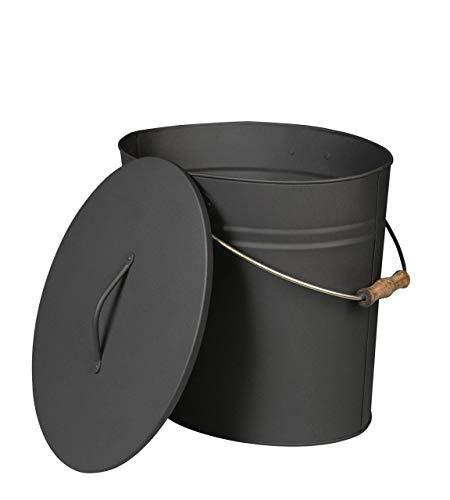Seau à cendres ou pellets sécurisé anthracite mat - 15 L - SC15L343024 (462)
