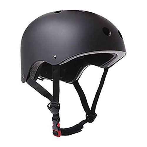 WXXMZY Casco para Adultos Y Niños, Equipo De Protección para Patinetas, Casco para Bicicleta De Equilibrio para Patinaje En Bicicleta (Color : Black, Size : Large(560-53cm))