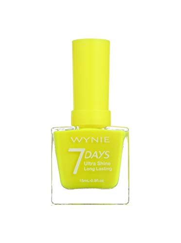 WYNIE JUMBO Nail Polish 409 - Esmalte de Uñas Secado Rápido Larga Duración tamaño Jumbo tono Amarillo Neón - 15 ml (409)
