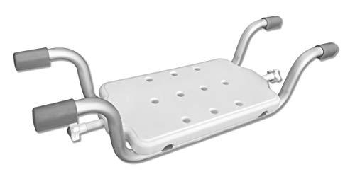 Rollafit Badewannensitz - 58-62 x 23 x 40 cm - Tragkraft 130 kg - Abstand Wanne/Wand min. 10 cm