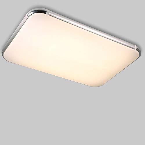 Natsen® 80W LED Deckenleuchte RGB Deckenlampe Küchenlampen 3000-6000K volldimmbar mit Farbwechselfunktion 920 * 650 mm (Silber)