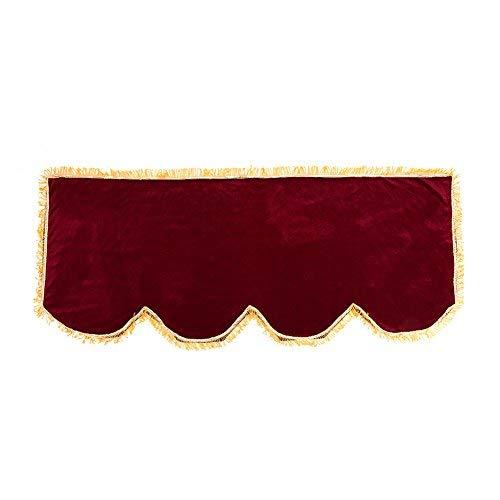 Housse de Clavier Piano 61 / 88 Touches Couverture Anti Poussière Etui de Protection en Velours Accessoires Entretien pour Piano Electronique(Bourgogne 88 touches)