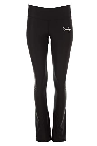 WINSHAPE Damen Functional Boot Cut Leggings BCL102, schwarz, Slim Style, Fitness Freizeit Sport Yoga Workout, M