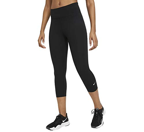 Nike DD0245-010 W ONE Tight MR CPRI 2.0 Leggings Womens Black/(White) 2XL