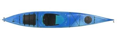 OOKPIK-WB2 Boreal Design Ookpik PE Rudder Touring Kayak, White/Blue by Kayak Distribution