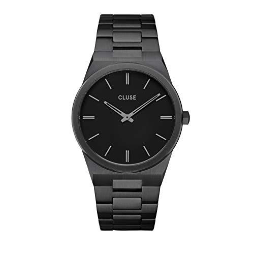 Cluse Herren-Armbanduhr CW0101503005 Vigoureux Edelstahl Schwarz 40 mm 5 ATM