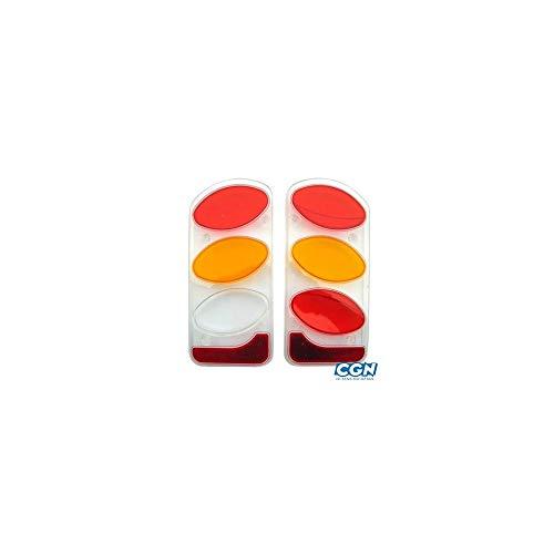 Peruzzo Unisex - Volwassenen achterlicht glas (kunststof) Set re+li, Zilver, One Size