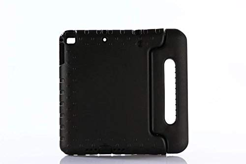 DELLA Case for IPad 9.7 2017 2018 Model A1822 Shockproof Safe Kid Handle Tablet Cover for Ipad 5 Air / Ipad 6 Air 2 Tablet PC+pen-Black