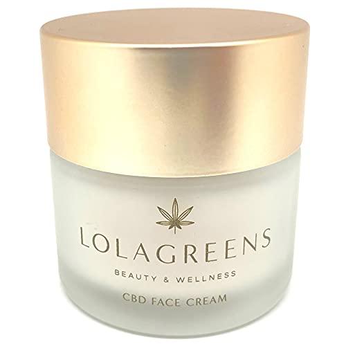 Crema facial con aceite de cáñamo CBD - Crema hidratante antiarrugas natural para mujer o hombre - Crema de día y noche antiedad antioxidante - Crema anti edad para la cara, 50ml