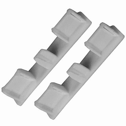 Bestlivings - Tappi terminali (2 pezzi) per binario tenda in alluminio – Argento 1/2