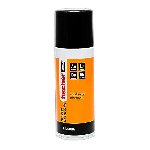 fischer 98673 Silicona (Aerosol 400 ml), 098673, Transparente
