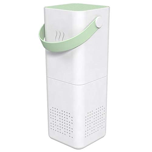 H HILABEE USB Portable Car Air Purifier with Negative Ion Outlet Spiral Fan - Light Green, 58x58x150mm
