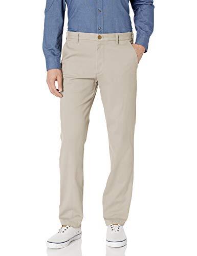 IZOD Pantalón chino de corte recto elástico para hombre - beige -...
