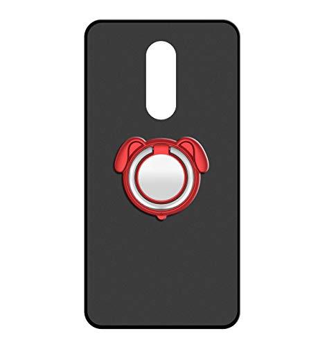 Sunrive Für ZTE Nubia Z11 Max Hülle Silikon, 360°drehbarer Ständer Ring Fingerhalter Fingerhalterung Handyhülle matt Schutzhülle Etui Case (Farbe rot)+Gratis Universal Eingabestift MEHRWEG