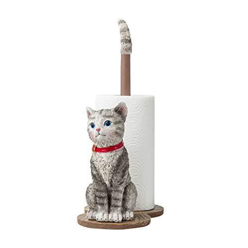Love lamp Küchenrollenpapier Handtuchhalter Resin Einfache Schönheit Nette Katze Vertikale Rollenhalter Badezimmer Wohnzimmer Papierrollenhalter 15 Zoll Hoch (Color : Brown, Größe : H 15 Inches)