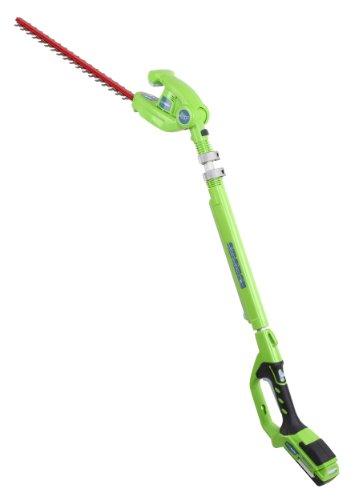 GreenWorks 22322 Enhanced 24-volt Cordless Extended Reach Hedge Trimmer