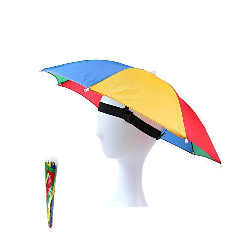 OMUKY Regenschirmhut Faltbarer SonnenschirmHut Angeln Hut Angelschirme Camping Leichte Wandern Mütze schirmhut für Damen Herren Golf, Angeln, Gartenarbeit, Fotografie, Wandern (Farbe2, 1 Stück)
