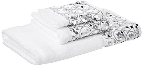 Popular Bath 839005 Sinatra Collection, Towel Set, White