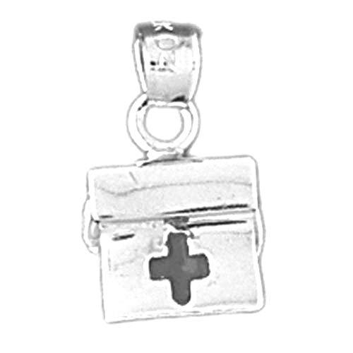 Jewels Obsession - Colgante de plata de ley 925, diseño de bolsa médica, 16 mm