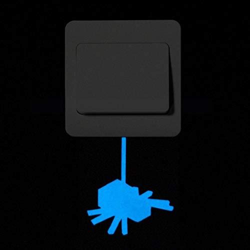 Leuchtender Wandsticker Katze Leuchtaufkleber Leuchtsticker Fluoreszierend Wandtattoo Wandaufkleber Hausdekoration Wandsticker Aufkleber Weihnachtsdeko Schlafzimmer Wohnzimmer Kinderzimmer Rovinci
