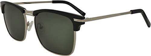 SQUAD Polarizadas Gafas de sol Para hombre y mujer adulto, Clásicas Cuadradas Clubmaster, 100% protección UV400, Metálico Con cierre de aro