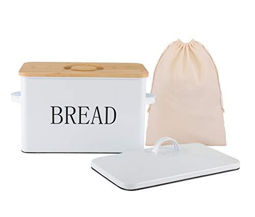 Bread box for kitchen countertop bread boxes for kitchen counter extra large bread box with cutting board lid kitchen bread storage farmhouse style bread box