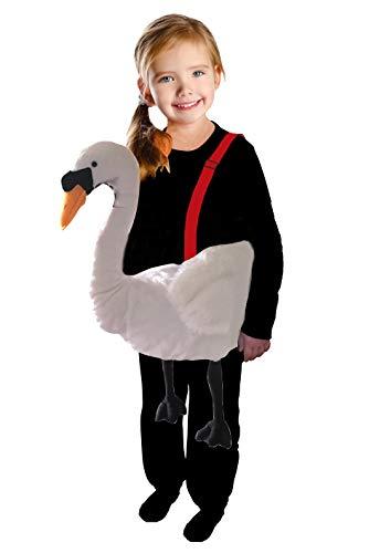 Schwan-en Kostüm-e F133 Gr. 98-116 Kinder-Kostüme klein-e Mädchen u. Jung-en Schwäne Ente-n Tier-e Fasching-s Karneval-s Geburtstags-Geschenk