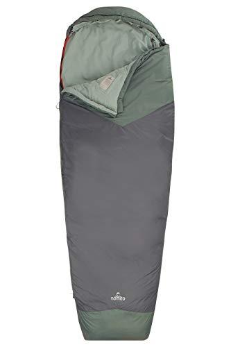 Nomad Unisex– Erwachsene SLTCPTC5LS51422 Travel Compact Mummy sleepingbag, Zipper Right, Grau