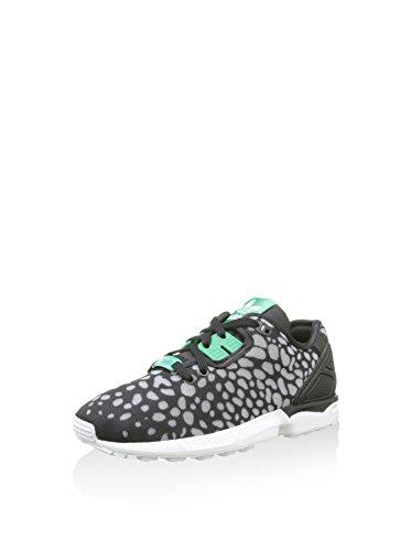 adidas Damen Zx Flux Decon Sneaker, schwarz/grün/grau, 38 2/3 EU