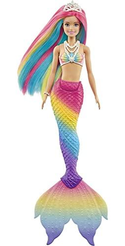 Barbie Dreamtopia Rainbow Magic Mermaid Doll with Rainbow Hair and...