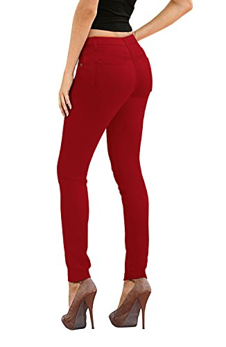 Women's Skinny Fit Stretch Twill Pant P19416SK RED 9