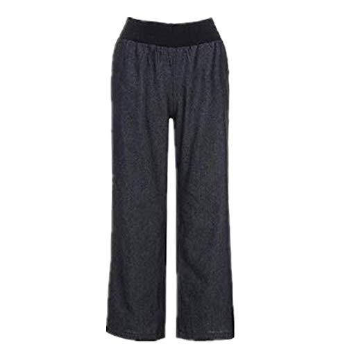 OKJI Vrouwen Casual Hoge Taille Elasticiteit Denim Brede Been Broek Jeans Broek Vrouwen Jeans Jeans Winkelen