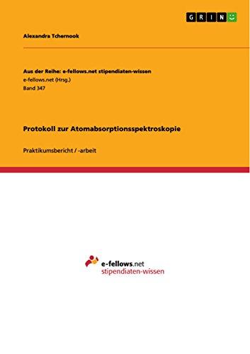 Protokoll zur Atomabsorptionsspektroskopie