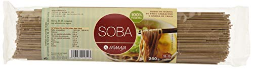 MIMASA Soba 250 gr Fideos Harina Trigo Sarraceno y Trigo 400 g