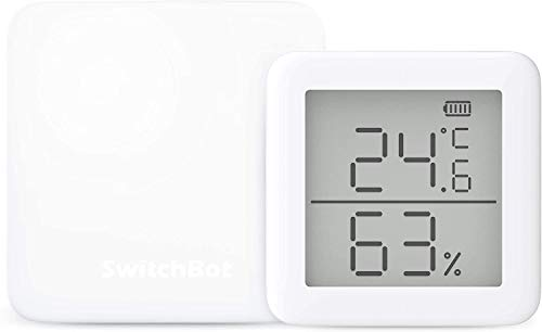 SwitchBot Set of 2 Smart Home Learning Remote Control - Compatible with Alexa Google Home IFTTT IFT Siri (1 Hub Mini + 1 Hygrometer)