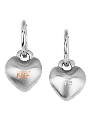 Breil Gioiello Collezione Kilos of Love, Orecchini da Donna in Acciaio Colore Silver Misura 20 - TJ2852
