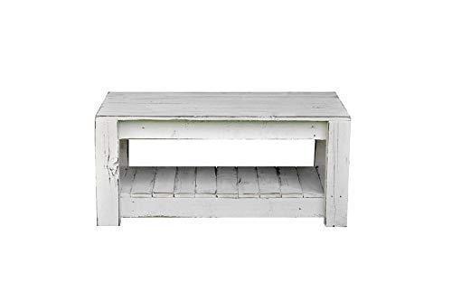 Mesa de centro de palets Unica & original blanca