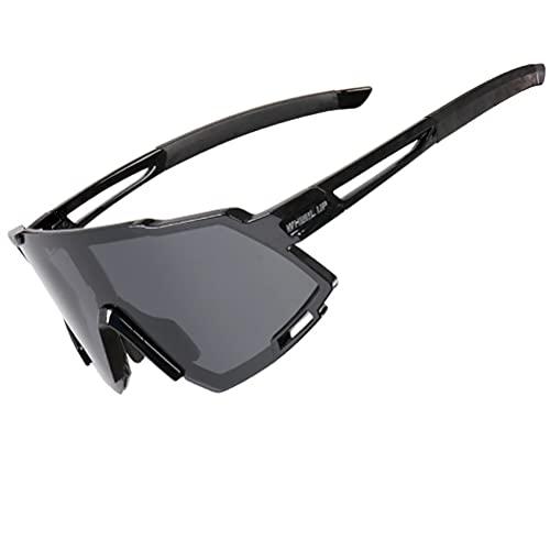 Gyj&mmm Gafas de Sol, Gafas de Sol para Hombres Mujeres Gafas Bicicletas Deportes Conducción Pesca de Bicicleta Corriendo Gafas de Sol UV400 Protección,Polarisiertes Grau