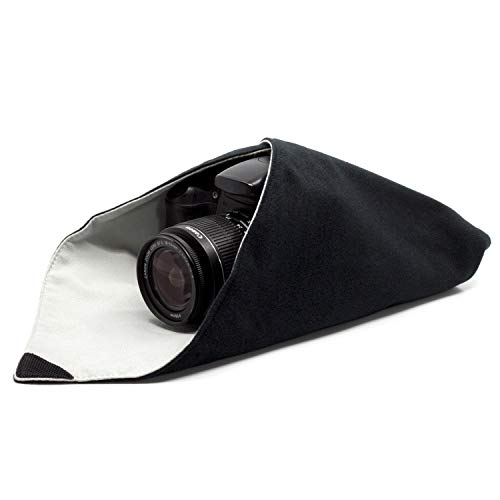 Amolith™ Einschlagtuch für Kamera als Schutzhülle für Fotoausrüstung im Rucksack, Tasche, Beutel etc. | Geeignet für DSLM/DSLR (mit Objektiv), Objektive, Tablet-PC etc. | M (40 x 40 cm) | AML-8780